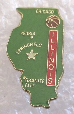State of Illinois Map Travel Souvenir Collector Pin