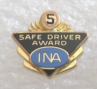 Vintage INA Insurance Company of North America 5 Year Safe Driver Pin 1/10 10K