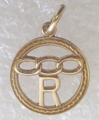 "Vintage IOOF Odd Fellows Rebekah Assembly/ Lodge Member ""R"" Charm or Pendant"