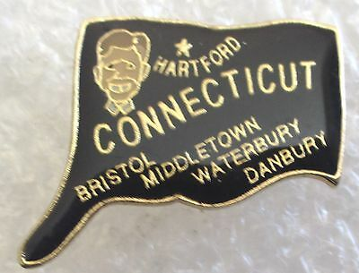 State of Connecticut Map Travel Souvenir Collector Pin