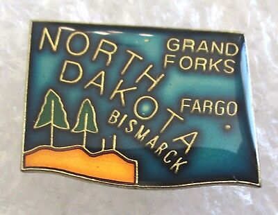 State of North Dakota Map Travel Souvenir Collector Pin
