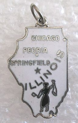 Vintage State of Illinois Travel Souvenir Collector Charm