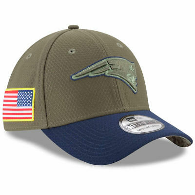 2017 New England Patriots New Era 39THIRTY NFL Salute To Service Stretch Cap Hat