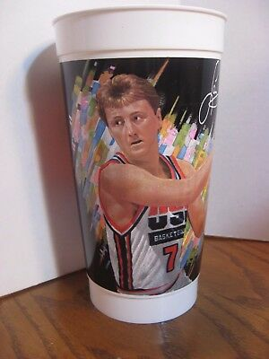 McDonalds USA Basketball #2 Collectible 32oz. Plastic Cup 1992 - Larry Bird