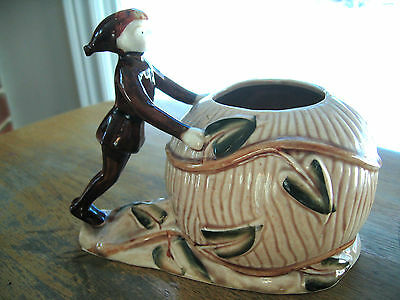 Vintage Thame Japan Pixie Elf Jack and the Beanstock Vase Ceramic