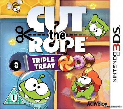 Cut the Rope: Triple Treat (Nintendo 3DS, 2014) Brand New!!!