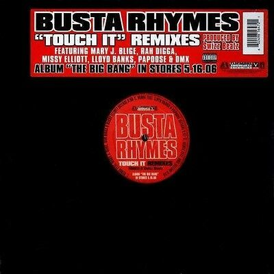 "Busta Rhymes - Touch It Remixes 12"" Promo Papoose DMX Lloyd Banks Mary J Blige"