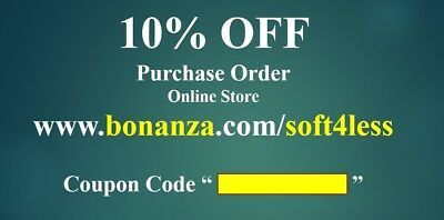 🔥 10% OFF Purchase Order Gift Coupon valid on bonanza soft4less online store