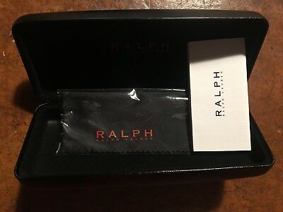 New Genuine Ralph Lauren Black Hard Sunglasses Case + Cloth