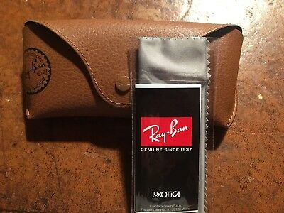 New Ray Ban Brown Sunglasses Case Cloth & Leaflet