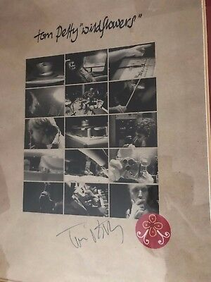 Tom Petty autographed poster coa + Proof! Heartbreakers signed Wildflowers Rare!