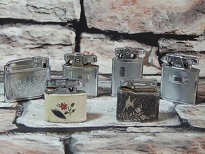 Lot 6x rare vintage cigarette lighters Ronson Tiki Mosda Colibri Monogas bundle