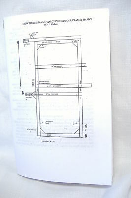 How To Build A Motorcycle Sidecar Frame Basics, Booklet