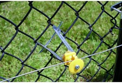 Zareba 10-Pieces Outdoor Farms Yellow Chain Link Fence Electric Wire Insulator