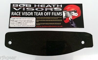 Shoei,cwf-1,cwr-F,visor Tear Offs,dark Tint-For Genuine Race Visors X 5