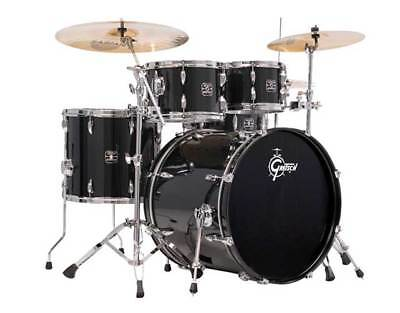 Gretsch GE-E8256S-BLK 5 Piece Energy Drum Shell Kit - No Hardware or Cymbals-NEW