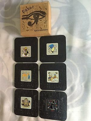 Unique Hand Made 6 Egyptian Coasters Made In Egypt