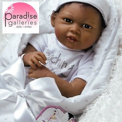 Paradise Galleries Reborn Black African American Doll FlexTouch Silicone Vinyl