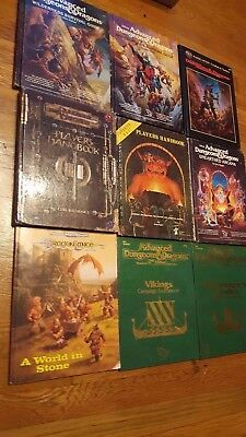 Advanced Dungeons and Dragons Books Lot of 9 See details No maps