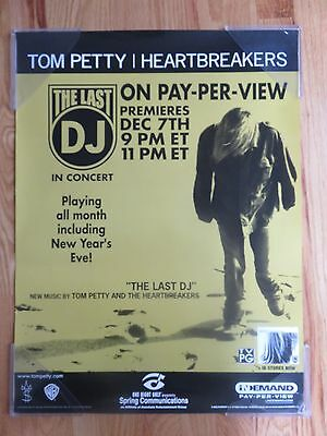 """2002 TOM  PETTY and The Heartbreakers """"THE LAST DJ"""" Promotional Poster"""