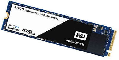 WD Black PCIe 512 GB interne NVMe-SSD (Solid State Drive) bis zu 2050 MB/s Lese-