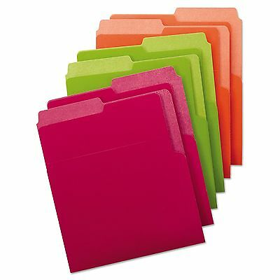 SMEAD 75406 Organized Up HEAVYWEIGHT VERTICAL File FOLDERS BRIGHT Colors 6 Pack