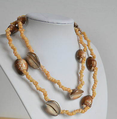 VINTAGE OOAK artisan handmade cowrie shell necklace
