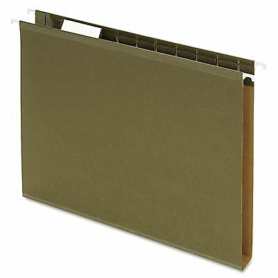 "PENDAFLEX 54459 1"" EXTRA DEEP HANGING File FOLDERS * GREEN * LETTER * 25/Box"