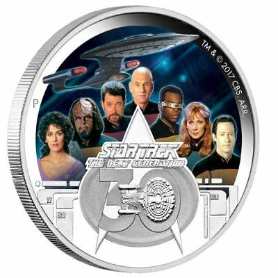2017 Star Trek The Next Generation Crew 30th Anniversary 2oz $2 Silver Coin