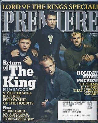 Premiere The Movie Magazine Dec 03/Jan 04 Lord Of The Rings ! FREE SHIPPING !