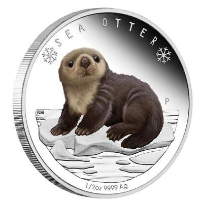 2017 Polar Babies Sea Otter Tuvalu 1/2oz Silver Proof 50c Half Dollar Coin