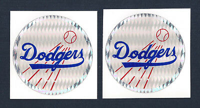 Los Angeles Dodgers MLB Prismatic Decal Stickers Team Logo Lot of (2)