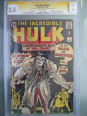 Incredible Hulk (1962) #1 CGC 2.5 SS **Signed Stan Lee** Origin & 1st Appearance