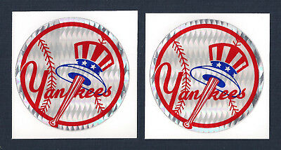 New York Yankees MLB Prismatic Decal Stickers Team Logo Lot of (2)