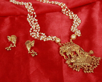 Indian Ethnic Gold Plated Bahubali Pendent Set Necklace Earring Fashion Jewelry