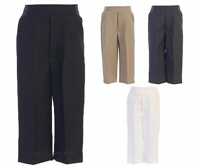 New Boys Black Charcoal Khaki White Long Pants Baby Toddler Kids Wedding Party 9