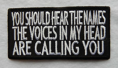 """""""You Should Hear The Names The Voices..."""" Sew On Collectible Patch """"New"""" SB4931"""