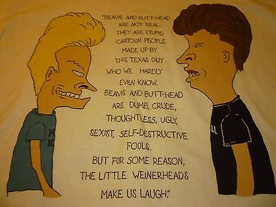 Beavis And Butthead Vintage 1993 Shirt ( Size XL ) NEW DEADSTOCK!!!