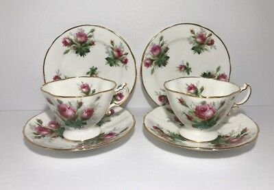 Hammersley Grandmother's Rose 3 pieces Tea Set for two bone china England