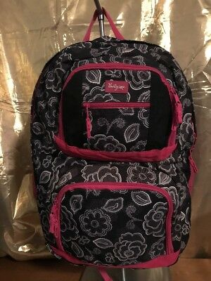 Thirty-One ~ 31 black white & pink laptop / tablet back pack School Bag backpack