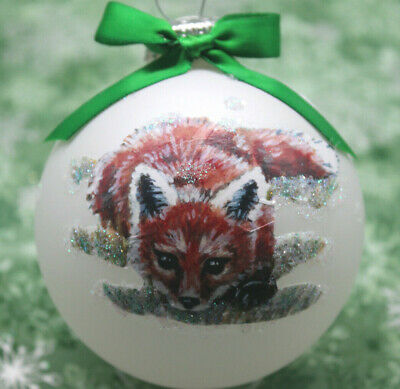W007 Hand-made Christmas Ornament  - playful crouching red FOX kit