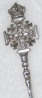 Handmade Sterling Silver Fork by Daniel Guluzian Jerusalem Cross with Crown