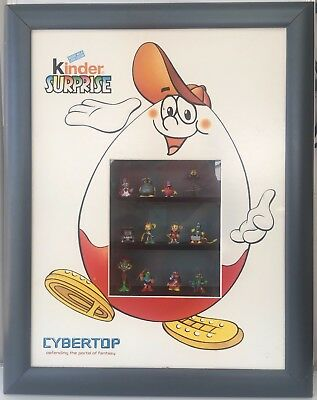 Kinder Surprise CyberTop Framed 12 Collectable Toys 69.0 x 54.5 x 8.0cm