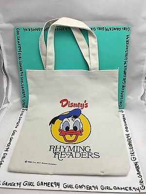 Walt Disney's - Rhyming Reader Small Kids Fabric Tote Hand Bag/Purse from 1986