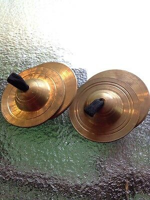2 Sets Of Vintage Brass Small Cymbals
