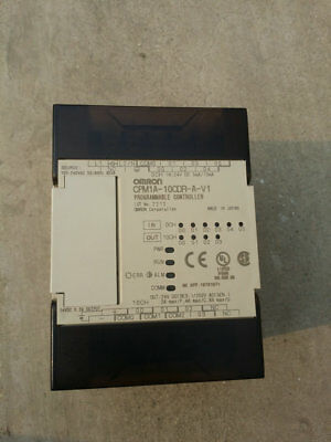 USED Omron CPM1A-10CDR-A-V1 Programmable Controller Tested It In Good Condition
