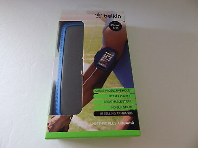 Belkin Slim-Fit Plus Armband for iPhone 6 iPhone 6S Arrow Blue New