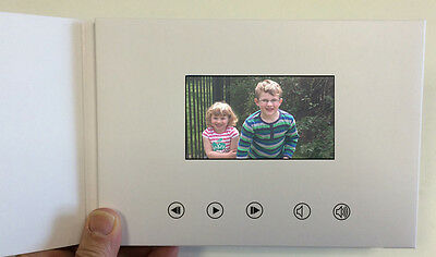 "Recordable Video Greeting Card - 4"" HD Screen - Blank Talking A5 256mb"