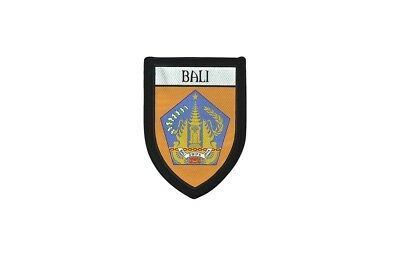 Ecusson brode thermocollant imprime blason ville drapeau bali indonesie patch