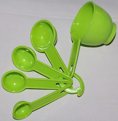 Set of 5 x MEASURING SPOONS scoop NEW Kitchen Baking Cooking